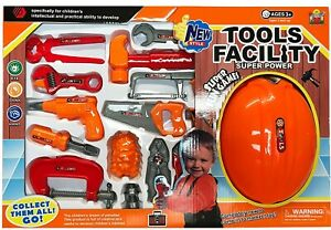 Toys Hand Power Facility Tool Set Safety Workshop