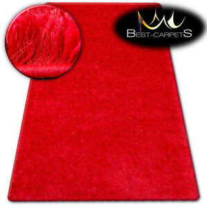FLUFFY CHEAP SOFT RUGS SHAGGY 'NARIN RED' HIGH QUALITY nice in touch CARPETS