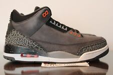 2013 Air Jordan 3 Retro Fear Pack Grey Orange Black III Size 10.5 136064 010