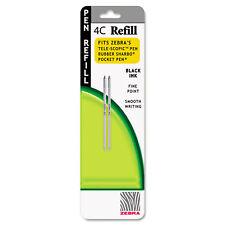 Zebra Refill for StylusPen Twist and 4C Pocket Pens Fine Black Ink 2/Pack 85612
