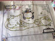 1616 MAP OF THE ISLAND OF BERMUDA AMSTELODAMI GUILJELM BLAEUW EXCUDIT