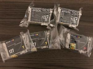 Epson 127 DuraBrite Ultra Black Ink Cartridge - 2 Pack
