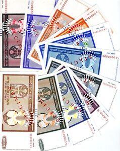 Specimen Set of 11 banknotes, Croatia, Knin, R8s plus R10s-R19s, 1993, aUNC-UNC
