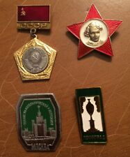 Soviet Union USSR 1989 Pins Various Lot Of Four