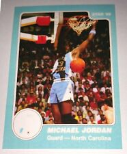 Michael Jordan 1985 Star North Carolina Rookie Error Logo Basketball Card No 7