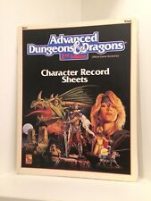 Character Record Sheets, Advanced Dungeons & Dragons 2nd Ed. (AD&D), RPG