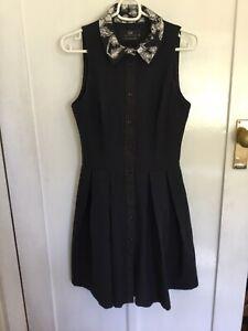 Cue Cotton Sleeveless Dress Size 6