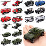 6Pcs 1:87 Car Model Toys Set Diecast Vehicles Truck Tank Helicopter Kids Gift