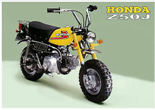 HONDA Poster Classic Z50J Z50 1976 on Mini Monkey Bike Suitable to Frame
