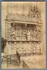 ND, Rouen, Tombeau des Cardinaux d'Amboise  Vintage albumen print. Vintage