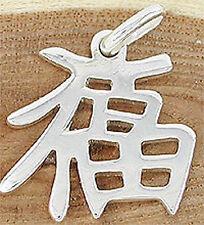 Anhänger chinesisches Zeichen für Glück Echt Silber 925 Silberanhänger