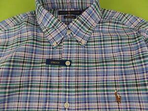 Polo Ralph Lauren Men's Oxford Button-Down Cotton Dress Shirt Slim Stretch S