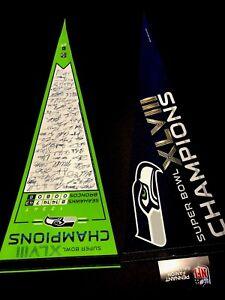 Lot of 2 Seattle Seahawks Super Bowl XLVII Felt Champions Pennants 2013 New