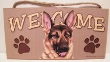 Welcome German Shepherd Dog Breed Wood Sign/Wall Plaque