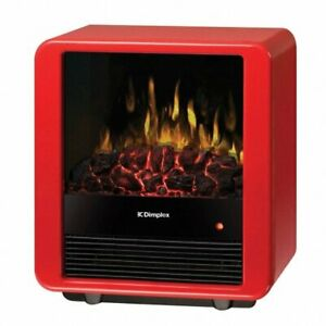 Mini Cube Electric Stove, Gloss Red