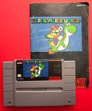 Super Mario World (Super Nintendo SNES) w/ Manual / Booklet & Game! V. Rare!