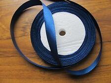 Largeur de rouleau 25yds 12mm bleu marine satin recto ruban légère 2nds très bon