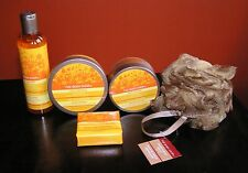 The Body Shop SET *** JOLLY ORANGE Butter Scrub Soap Gel FS Lot