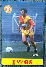 1980s BUYUK METIN GALATASARAY SPOR KULUBU TURKEY FOOTBALL SOCCER POSTCARD