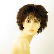 perruque femme 100% cheveux naturel châtain ref NOELLE 6