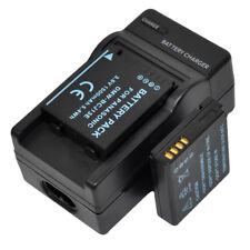 Charger +2x Battery for Panasonic DMW-BCJ13E DMC-LX5 DMC-LX5K DMC-LX5W DMC-LX7