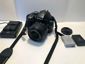 Nikon D D3300 24.2MP Digital SLR Camera - Black  w/ AF-S DX VR II 18-55mm