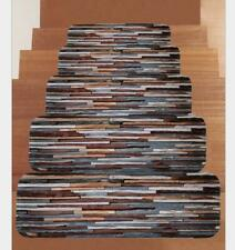 Soft Shaggy Carpet Stair Treads NON-SLIP MACHINE WASHABLE Mats/Rug 10pcs 22x70cm