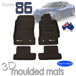 To suit Toyota 86 2012 - 2019 Rubber Car Mats - Manual Transmisson Only