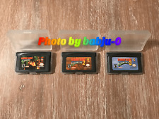 3 GAME Donkey Kong Country Trilogy 1 2 3 (Nintendo Game Boy Advance, GBA) TESTED