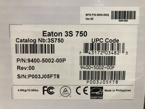 Eaton 3S 3S750 750VA/450W 10-Outlet Back Up Surge Protection UPS