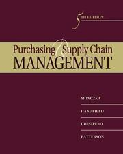 Purchasing and Supply Chain Management by Robert M. Monczka, James L. Patterson,