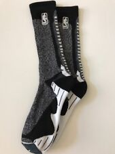 Large Brand New Free S/H (C) Nba Black Design Adult Socks- 1 Pair-