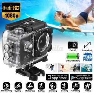 Sport Action Kamera 2 Zoll LCD Full HD 1080P WiFi Wasserdicht Cam Camera