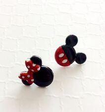 Minnie Mouse Earrings, Mickey Mouse Earrings, Stud Earrings, Disney Jewelry
