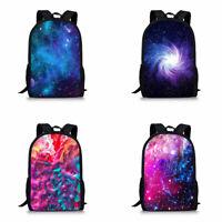 Fashion Galaxy School Backpack for Teens Rucksack Casual Book Bag Shoulder Bags