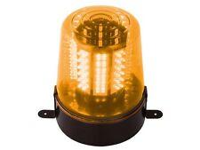 LAMPE GYROPHARE PROJECTEUR ORANGE 108 LED 220V VITESSE DE ROTATION REGLABLE