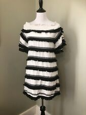 Chloe Oliver Black White Fridge Off The Shoulder Dress Size Small