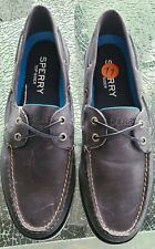 SPERRY MEN'S TOP SIDER LEEWARD NAUTICAL CROSS LACE BOAT BLUE SHOES SIZE 11 NEW