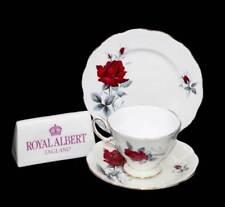 Vintage Royal Albert Sweet Romance red roses teacup trio set