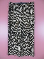 STK2094- NEW CHICO'S TRAVELERS Womens Slinky Knit Wide Leg Pants Geo Sz 3 L XL