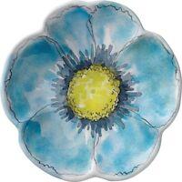 "Merritt - Melamine Round Salad Plate - Floral Sketchbook Blue - 7.5"""