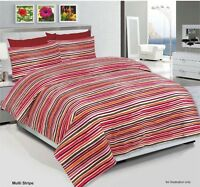 Duvet Cover with Pillow Case & Bed sheet Quilt Bedding Set Single Double King