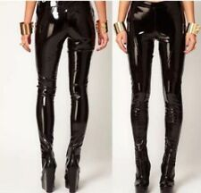 Hot New Glossy Vinyl  Skinny Leggings Pencil Womens Punk Patent Leather Pants
