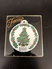 NIB 1999 FIESTA Christmas Tree Ornament Homer Laughlin China Co. EX! Clean!