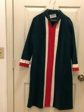 Vintage Vanity Fair Fleece Robe size 10 Green Red White