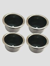 Newly 4 Pcs Stainless Steel Cup Drink Holder Marine Boat Car Truck Camper RV