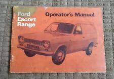 Ford Escort Mark  Mk1 6 & 8 cwt Van Owners Handbook Manual 1969 FREE UK POST