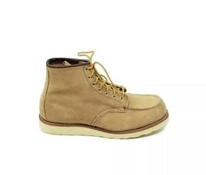 Red Wing Heritage Boots Classic Moc Toe   Beige Sand Mohave Mens US 11 E