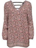 24/18 NEU ONLY Damen langarm Shirt Tunika onlHENRIETTA L/S LONG AOP TOp Gr. 38