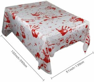 Halloween Bloody Tablecloth Halloween Table Cover Zombie Hands PVC 130x260cm
